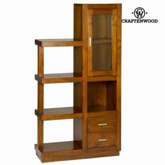 Libreria con vetrina forest - Chocolate Collezione by Craften Wood