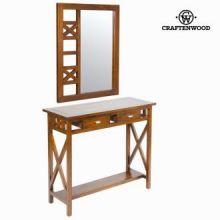Console ingresso rustico con specchio - Serious Line Collezione by Craften Wood