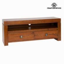 Tavolo tv nature 2 cassetti noce - Nogal Collezione by Craften Wood