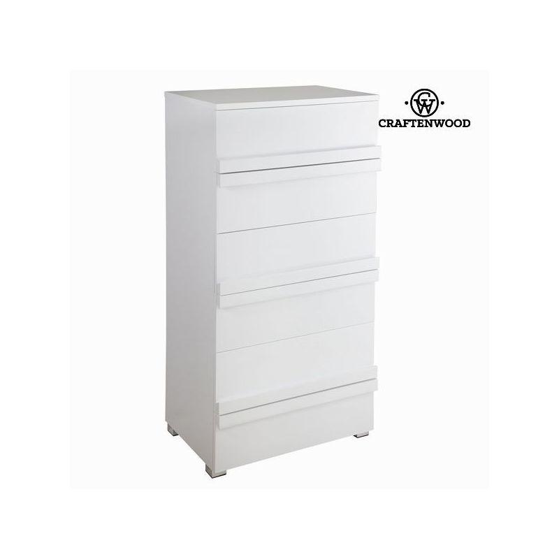 Cassettiera bianca laccata - Pure White Collezione by Craften Wood