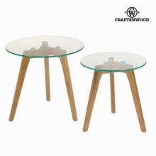 Set 2 tavoli rovere e vetro - Modern Collezione by Craften Wood