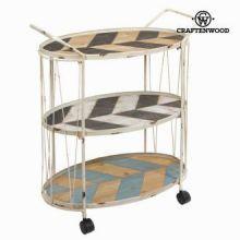 Tavolo carrello con ruote by Craften Wood