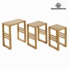 Set 3 tavoli matrioska ios - Village Collezione by Craften Wood