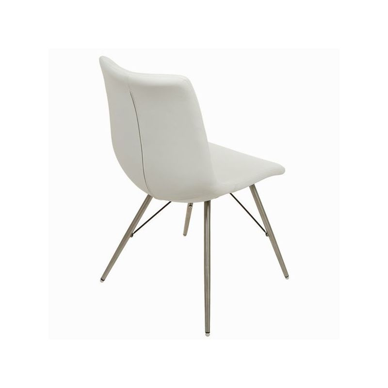 Sedia ecopelle bianca by Craften Wood