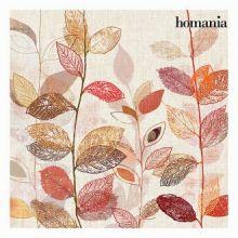 Dipinto foglie rosse by Homania