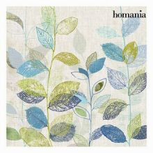 Dipinto foglie blu e verdi by Homania
