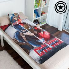 Set di Coperta e Cuscino Captain America