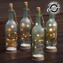 Bottiglia in Vetro con LED Vintage Coconut