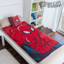 Set di Coperta e Cuscino Spiderman