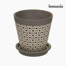 Vaso portafiori di ceramica rombo by Homania