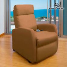 Poltrona Relax Massaggiante Craftenwood Compact Camel 6019