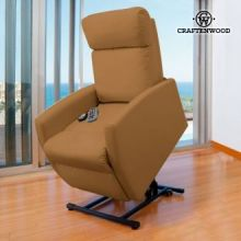 Poltrona Relax Massaggiante Alzapersone Craftenwood Compact Camel 6006