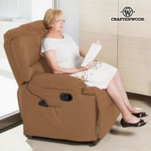 Poltrona Relax Massaggiante Craftenwood Camel 6005