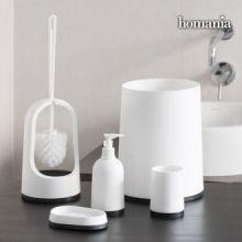 Accessori per il Bagno Black & White Homania (5 pezzi)