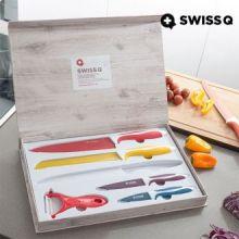Set di Coltelli Rivestiti in Ceramica Swiss Q (6 pezzi)