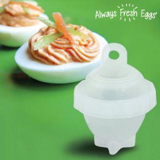 Always Fresh Eggs Bollitore Uova (Pacco da 6)