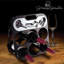 Portabottiglie con Accessori da Vino Summum Sommelier