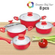 Batteria di Pentole Ceramic Chef (8 pezzi)