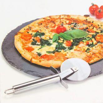 Piastra per Pizza con Rotella Tagliapizza Atopoir Noir