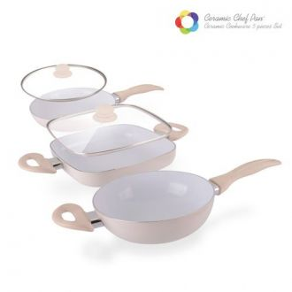 Padelle Ceramic Chef Pan Elegance Edition (5 pezzi)