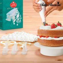 Kit per la decorazione di torte Tasty American (100 pezzi)