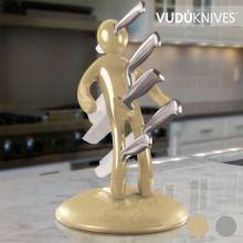 Portacoltelli e Set di Coltelli Vudú Knives Supreme (5 pezzi)
