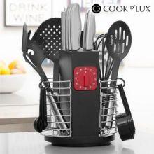 Utensili da Cucina con Timer e Supporto per Sistemare Cook D'Lux (24 pezzi)