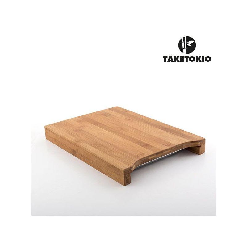 Tagliere da cucina in bamb taketokio con vassoio for Lista utensili da cucina