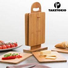 Set da Tavola da Cucina di Bambù con Supporto TakeTokio (7 pezzi)
