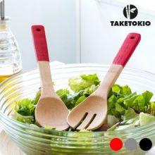 Forchetta e Cucchiaio in Bambù TakeTokio