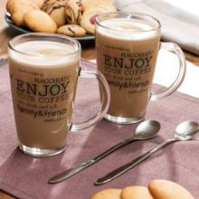 Tazza Enjoy Your Coffee con Cucchiaino (pack da 2)