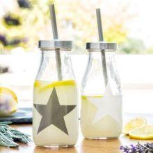 Bottiglia di Vetro con Cannuccia Star