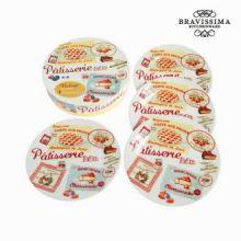 Set 4 piatti patisserie - pasticceria - Kitchen's Deco Collezione by Bravissima Kitchen