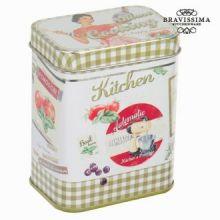Scatola di metallo verde kitchin - Kitchen's Deco Collezione by Bravissima Kitchen
