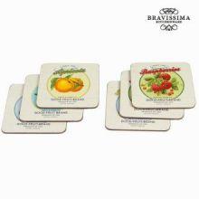 Sottobicchieri set da 6 fruits - Kitchen's Deco Collezione by Bravissima Kitchen