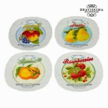 Piatto set 4 fruits - Kitchen's Deco Collezione by Bravissima Kitchen