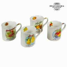 Tazza con scatola set da 4 fruits - Kitchen's Deco Collezione by Bravissima Kitchen