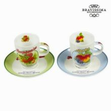 Tazza con scatola set da 2 fruits - Kitchen's Deco Collezione by Bravissima Kitchen