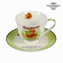 Tazza da tè con piatto e scatola fruit - Kitchen's Deco Collezione by Bravissima Kitchen