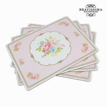 Sottopentola bouquet set da 4 - Kitchen's Deco Collezione by Bravissima Kitchen