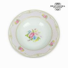 Piatto fondo bouquet rosa - Kitchen's Deco Collezione by Bravissima Kitchen