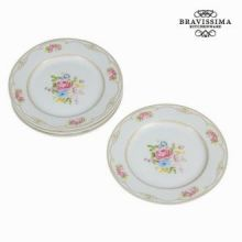 Piatto set da 4 con scatola bouquet - Kitchen's Deco Collezione by Bravissima Kitchen