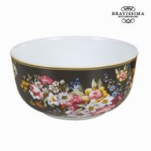Tazza porcellana bloom black - Kitchen's Deco Collezione by Bravissima Kitchen