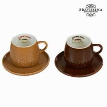 Set 2 tazze con piatto coffee - Kitchen's Deco Collezione by Bravissima Kitchen