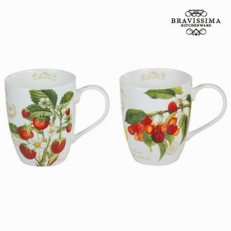 Set 2 tazze fruits garden - Kitchen's Deco Collezione by Bravissima Kitchen