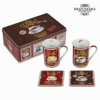 Set 2 tazze con posabicchieri - Kitchen's Deco Collezione by Bravissima Kitchen