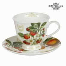 Tazza con piatto fruits garden - Kitchen's Deco Collezione by Bravissima Kitchen