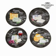 Set 4 piatti formaggi - Kitchen's Deco Collezione by Bravissima Kitchen