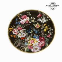 Piatto con scatola bloom black - Kitchen's Deco Collezione by Bravissima Kitchen