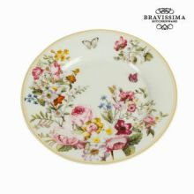 Piatto dessert bloom white - Kitchen's Deco Collezione by Bravissima Kitchen